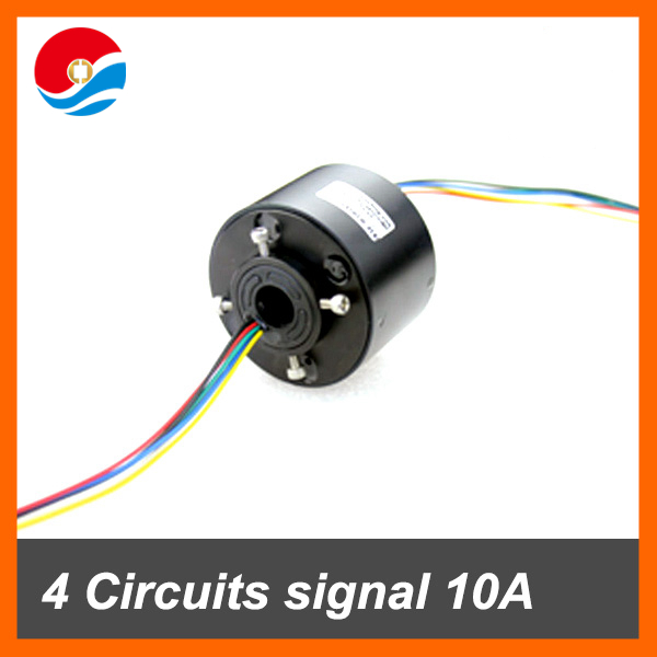 Miniature generator motor used through bore slip ring 4 circuits/wires contact 12.7mm(0.5'') inner size
