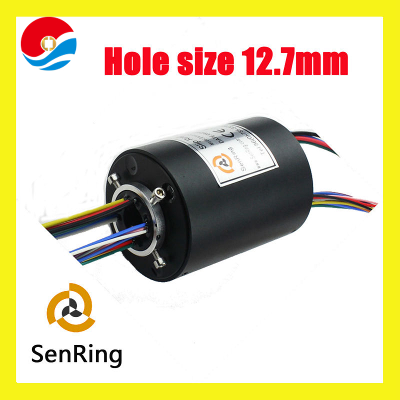 Electrical motors rotary connector 24 circuits 10A of through bore slip ring with inner size 12.7mm