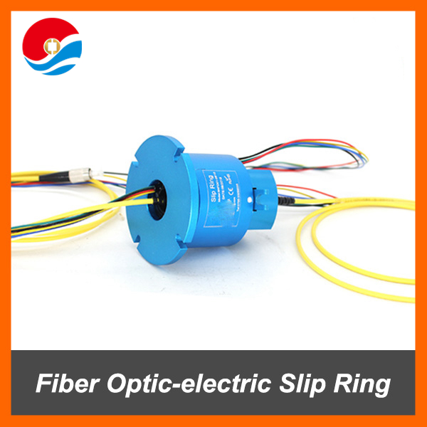 Fiber Optic-electric Slip Ring / Rotary joint with 1 channel fiber optic+4 circuits 10A