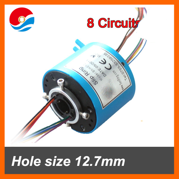 Aluminum alloy of Mini bore size 12.7mm with 8 wires/conductor 5 A of throug hole slip ring