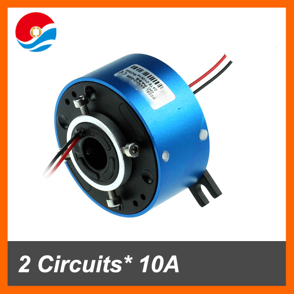 Mini through hole slip ring 2 wires 10A with bore size 12.7mm