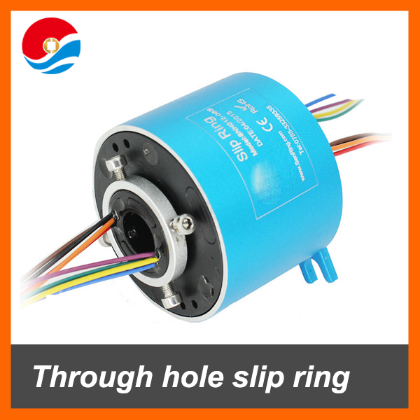 Through hole slip ring 8 wires each signal 2A with bore size 12.7mm