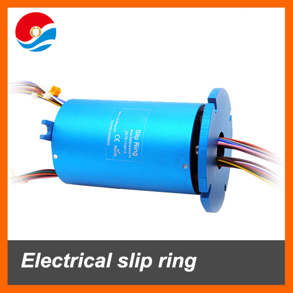 Electrical slip ring 24 wires 5A with hole size 12.7mm flange