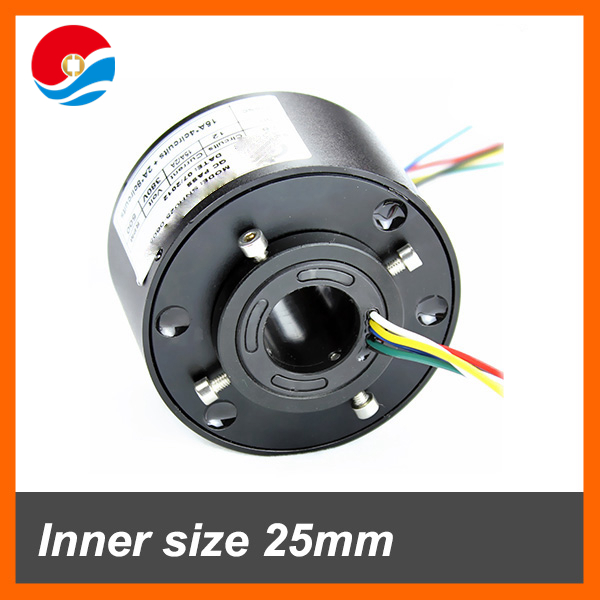Through hole 25.4mm 380VAC 600Rpm 10-20A current Through hole Slip Ring