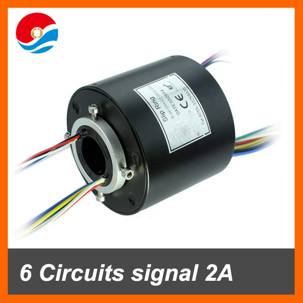 Through bore slip ring 25.4mm(1'') 12 circuits/wires alluminum alloy