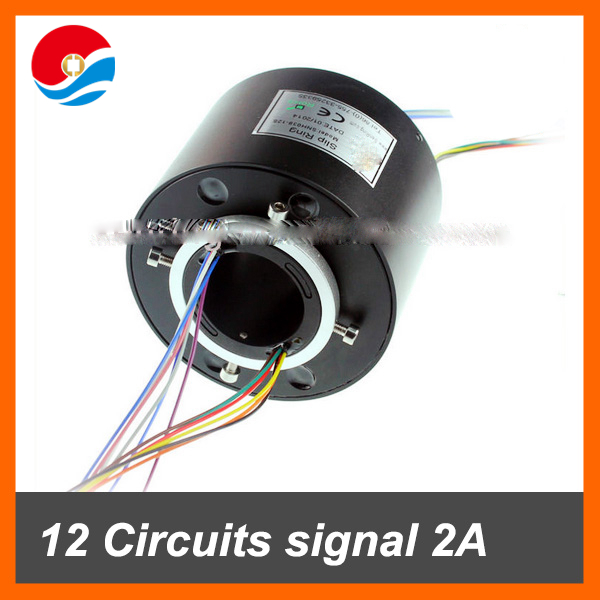 12 circuits/wires signal with hole size 1.5''(38.1mm) through hole slip ring