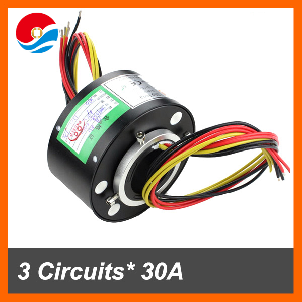 Conductive 3 circuits 30A with through hole Slip Ring inner size 38.1mm